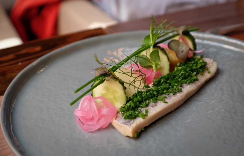 Herring in Riga, Latvia