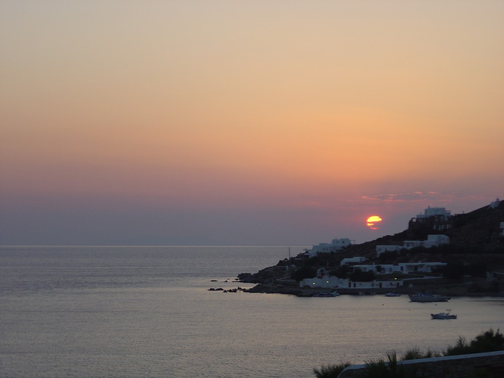 Mykonos sunset, Greece