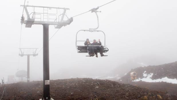 Whakapapa skifield on Mt Ruapehu, where skiers got stranded on a broken lift for more than an hour. (File photo)