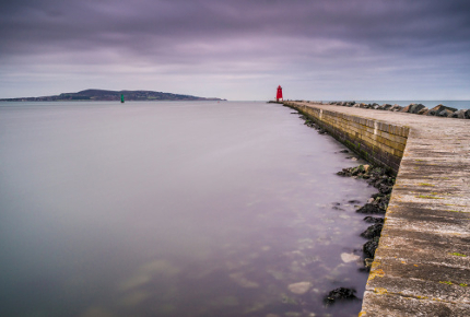 Poolbeg Lighthouse is a great place to spark up