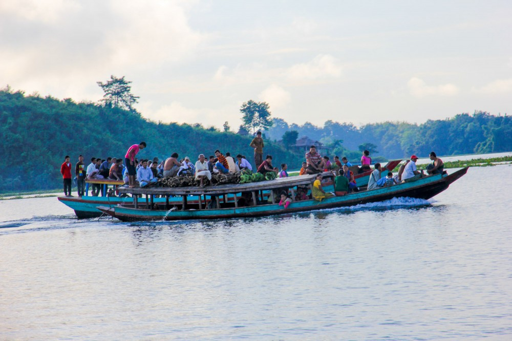 Locals getting around on Kaptai Lake