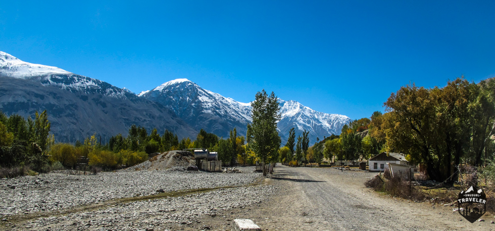 Main street in Langar, the last village in Wakhan Valley