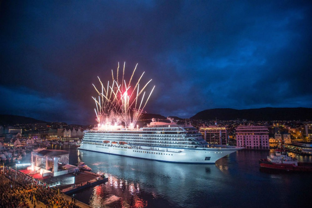 Setting sail on the Viking Star. Photo from Viking Cruises.