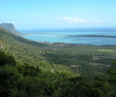 The southwest coast of Mauritius
