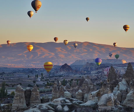 Balloons over the Pinnacles in Turkey