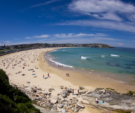 Bondi Beach in New South Wales in Australia