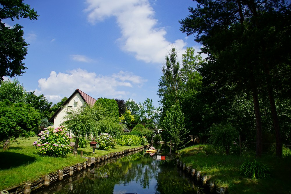 Gorgeous homes we spotted on a lovely day in Spreewald, Germany as we punted down the canals.