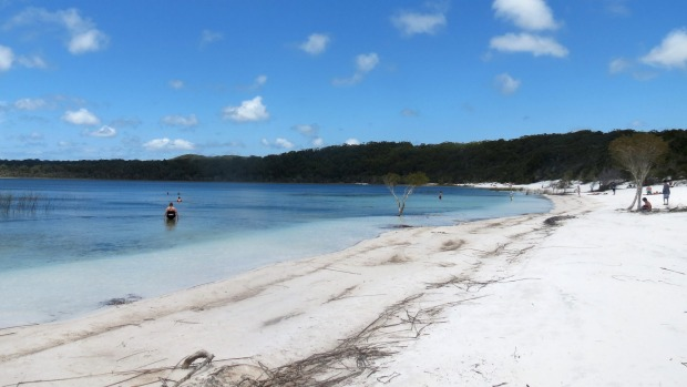 Lake Birrabeen has sand so fine you can exfoliate ten years off, scrub jewellery and even clean your teeth.