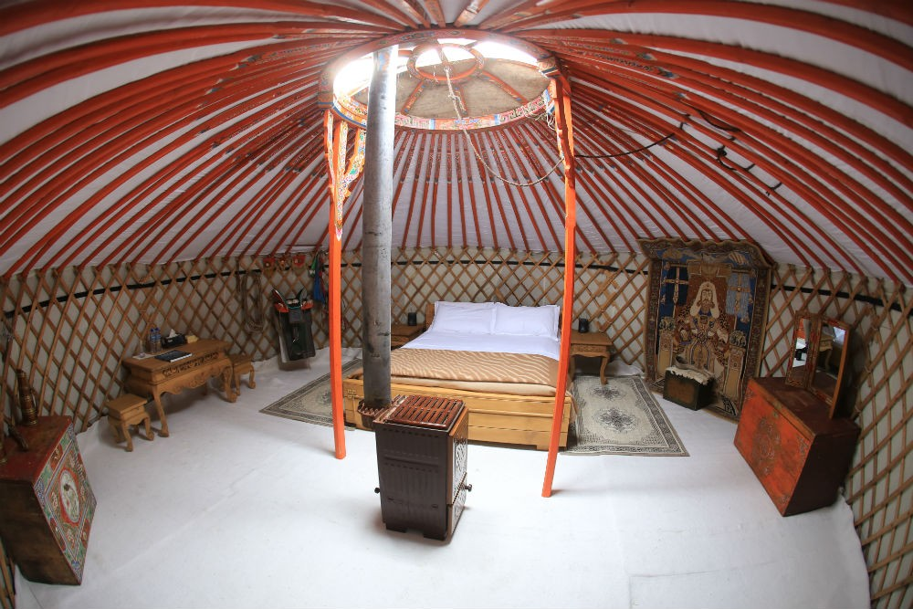 The inside of a luxury ger, Mongolia. Photo: Nomadic Expeditions